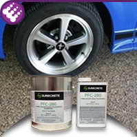 PFC-280 - One Day Concrete Garage Floor Flake System with Pigmented Polyaspartic