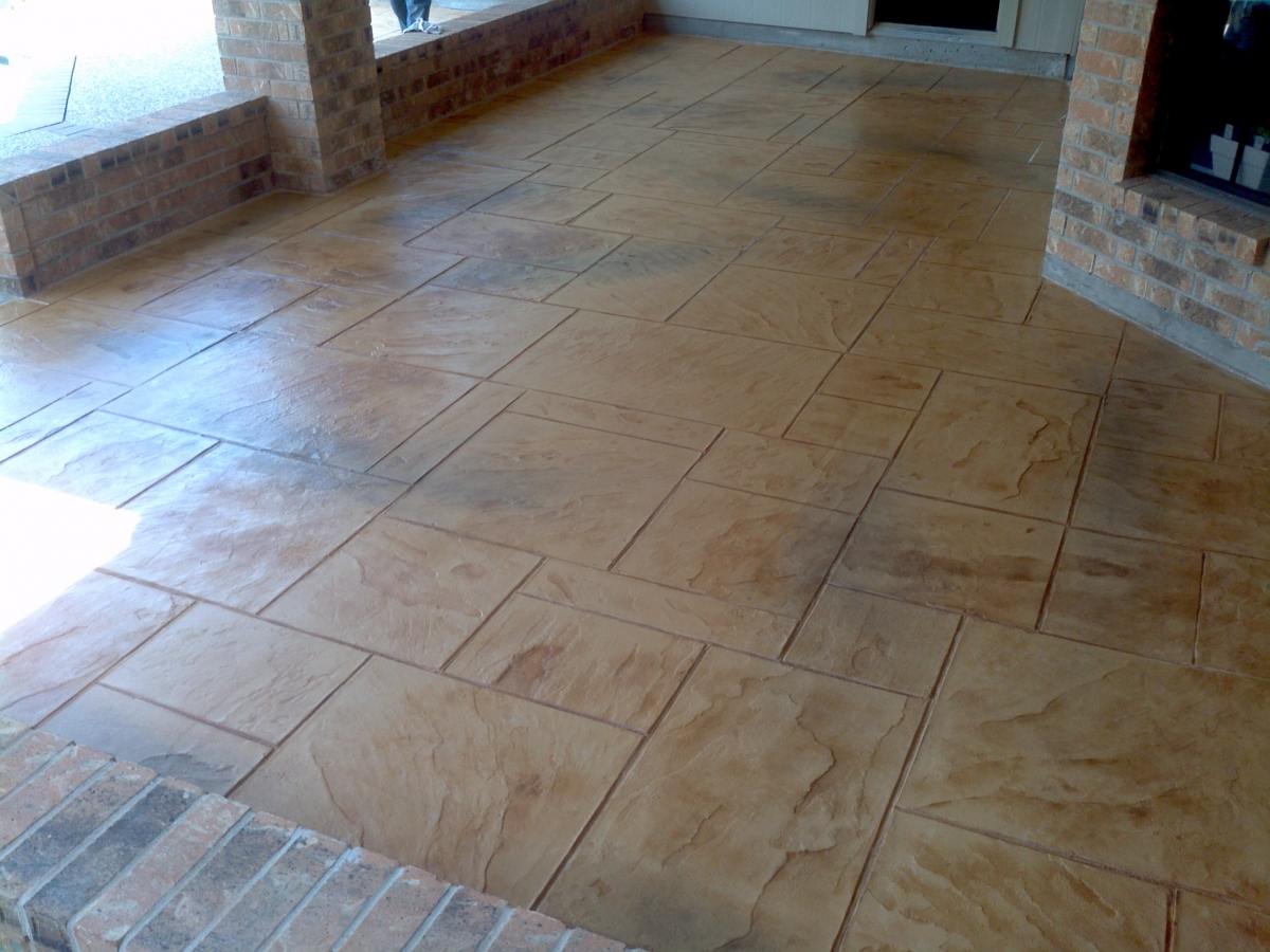 Stamped Concrete Panels : Photos using products from scp supply houston stamped